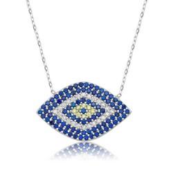 Tekbir Silver - Gümüş Mekik Nazar Göz Bayan Kolye