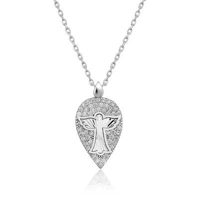 Tekbir Silver - Gümüş Melek Damla Bayan Kolye