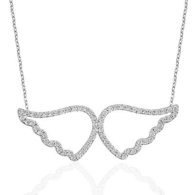 Tekbir Silver - Gümüş Melek Kanadı Bayan Kolye
