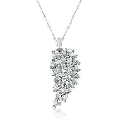 Gumush - Gümüş Melek Kanadı Bayan Kolye