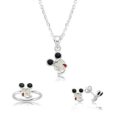 Tekbir Silver - Gümüş Miki Mouse Çocuk Seti