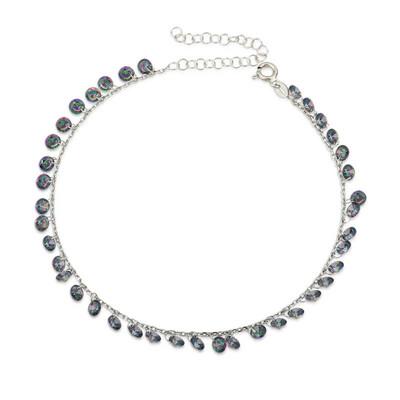 Tekbir Silver - Gümüş Mistik Topaz Halhal