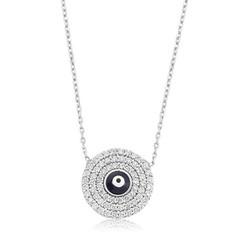 Tekbir Silver - Gümüş Nazar Göz Bayan Kolye