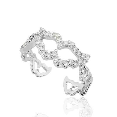 Tekbir Silver - Gümüş Nazarlı Melek Kanadı Bayan Yüzük