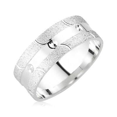 Tekbir Silver - Gümüş Noktalı Alyans