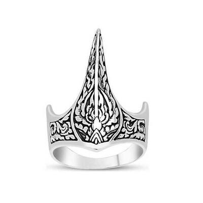 Tekbir Silver - Gümüş Okçu Zihgir Yüzüğü