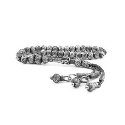 Tekbir Silver - Gümüş Oksitli Trabzon Kazaziye Tesbih