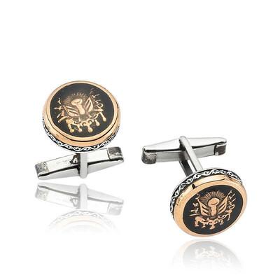 Tekbir Silver - Gümüş Osmanlı Armalı Kol Düğmesi