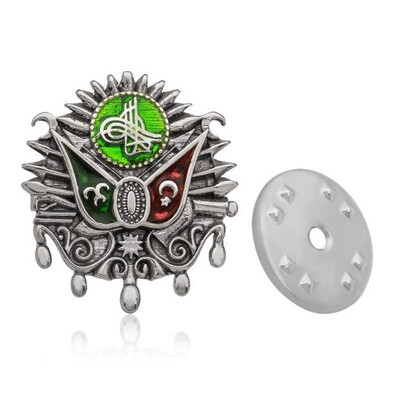Tekbir Silver - Gümüş Osmanlı Devlet Arması Rozet