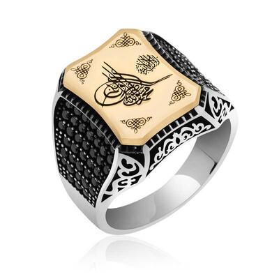 Gumush - Gümüş Osmanlı Tuğralı Erkek Yüzük