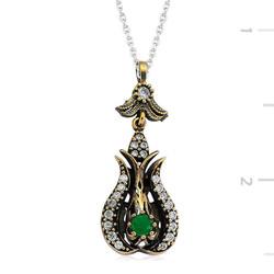 Tekbir Silver - Gümüş Otantik Lale Bayan Kolye