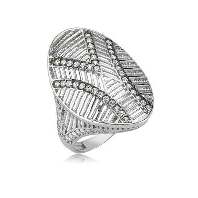 Tekbir Silver - Gümüş Oval Bayan Yüzük