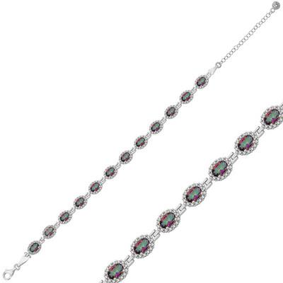 Tekbir Silver - Gümüş Oval Su Yolu Bayan Bileklik
