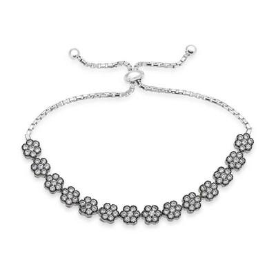 Tekbir Silver - Gümüş Papatya Bayan Asansör Bileklik
