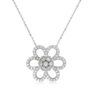 Tekbir Silver - Gümüş Papatya Bayan Kolye