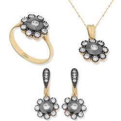 Tekbir Silver - Gümüş Papatya Bayan Set