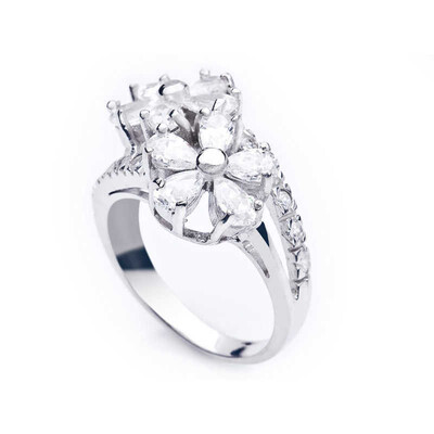 Tekbir Silver - Gümüş Papatya Bayan Yüzük