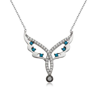 Tekbir Silver - Gümüş Peri Kanadı Bayan Kolye