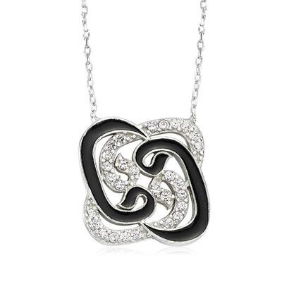 Tekbir Silver - Gümüş Pervane Vav Bayan Kolye