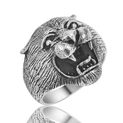 Tekbir Silver - Gümüş Puma Kafası Erkek Yüzük