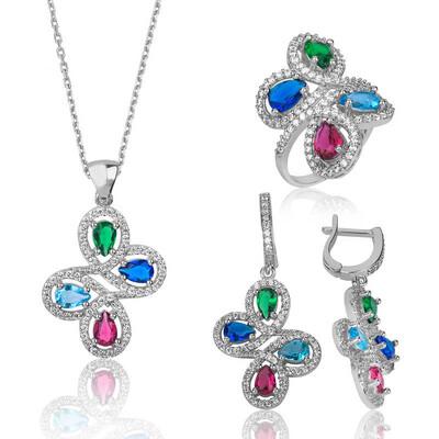 Tekbir Silver - Gümüş Renkli Bayan Set