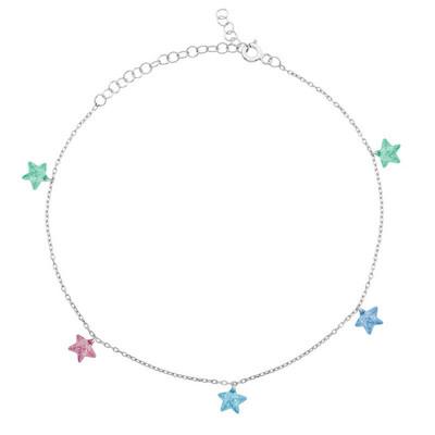 Tekbir Silver - Gümüş Renkli Yıldız Halhal