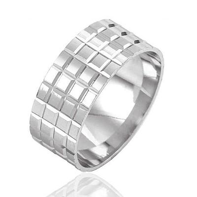 Tekbir Silver - Gümüş Rodyum Kaplama Alyans