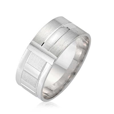 Tekbir Silver - Gümüş Rodyumlu Alyans