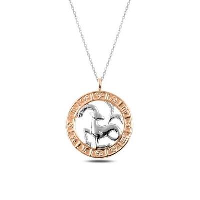 Gumush - Gümüş Rose Oğlak Burcu Kolye