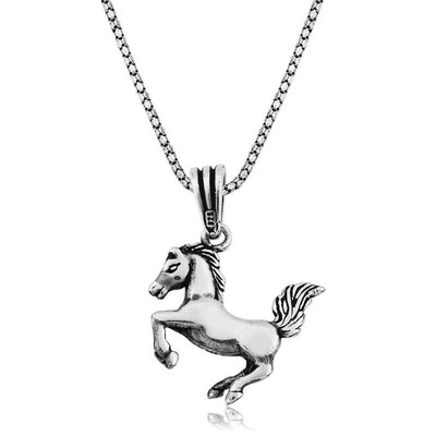Tekbir Silver - Gümüş Şahlanmış At Kolye