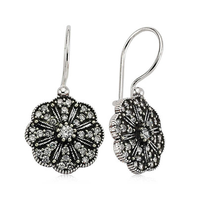 Tekbir Silver - Gümüş Sallantılı Çiçek Küpe