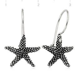 Tekbir Silver - Gümüş Sallantılı Deniz Yıldızı Küpe