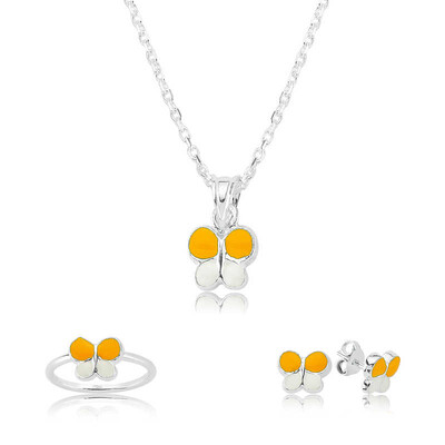Tekbir Silver - Gümüş Sarı Kelebek Çocuk Set