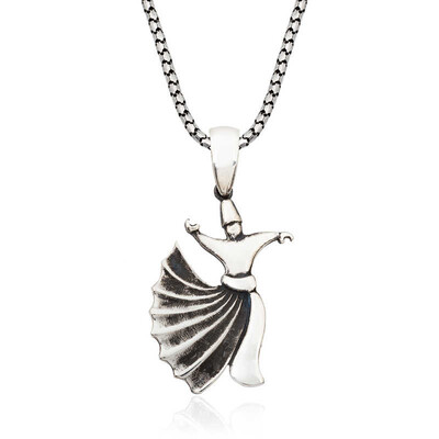 Tekbir Silver - Gümüş Semazen Erkek Kolye
