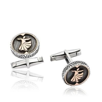 Tekbir Silver - Gümüş Semazen Kol Düğmesi