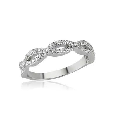 Tekbir Silver - Gümüş Sıralı Sonsuzluk Bayan Yüzük