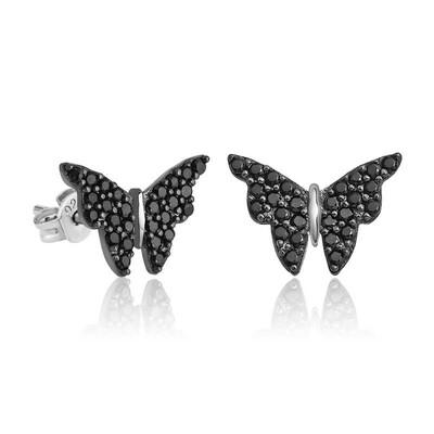 Gumush - Gümüş Siyah Kelebek Küpe