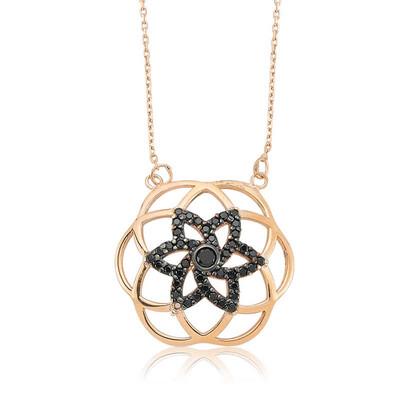 Tekbir Silver - Gümüş Siyah Taşlı Yaşam Çiçeği Bayan Kolye