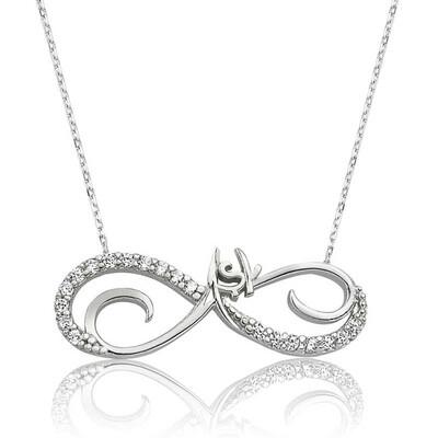 Tekbir Silver - Gümüş Sonsuz Aşk Bayan Kolye