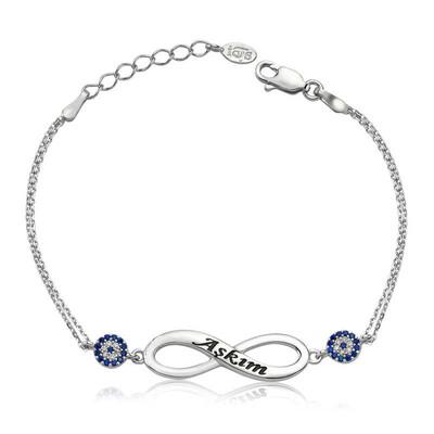 Tekbir Silver - Gümüş Sonsuzluk Aşkım Bayan Bileklik