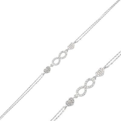 Tekbir Silver - Gümüş Sonsuzluk Bayan Bileklik