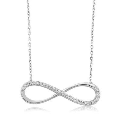 Tekbir Silver - Gümüş Sonsuzluk Bayan Kolye