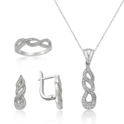 Tekbir Silver - Gümüş Sonsuzluk Bayan Set