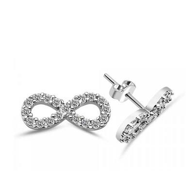 Tekbir Silver - Gümüş Sonsuzluk Çivili Küpe