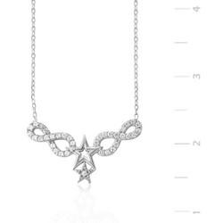 Tekbir Silver - Gümüş Sonsuzluk Yıldız Bayan Kolye