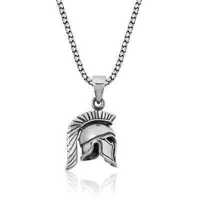 Tekbir Silver - Gümüş Şovalye Miğfer Kolye