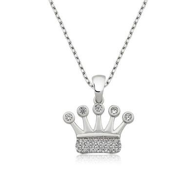 Tekbir Silver - Gümüş Taç Bayan Kolye