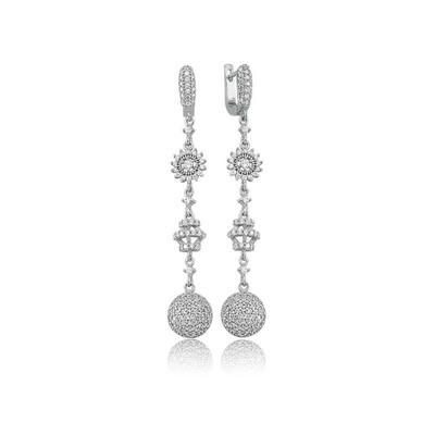 Tekbir Silver - Gümüş Taşlı Sallantılı Küpe (1)