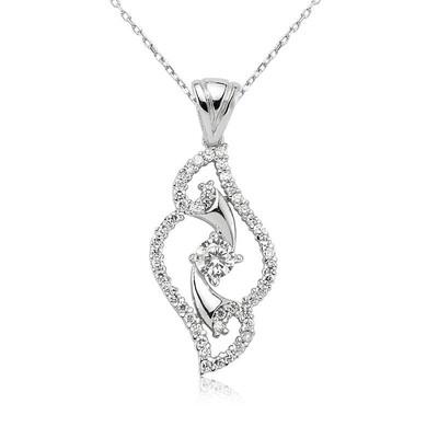 Tekbir Silver - Gümüş Tek Taş Bayan Kolye