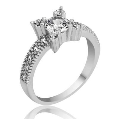 Tekbir Silver - Gümüş Tek Taş Bayan Yüzük